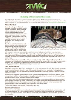 Building a Microbat Nestbox - Source:  Tweed Valley Wildlife Carers
